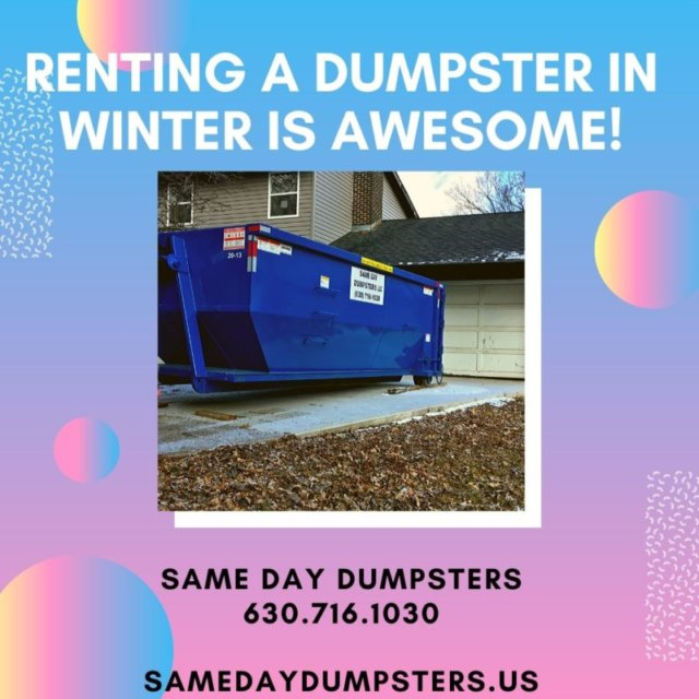 Renting A Dumpster In Winter Is AWESOME!