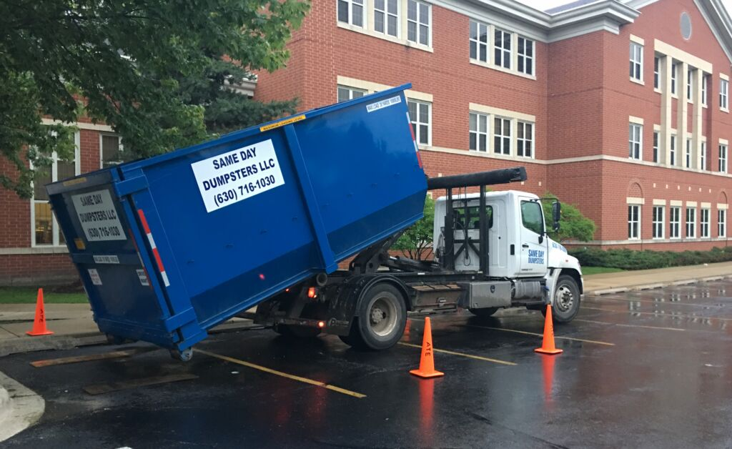 Same Day Dumpsters In Action